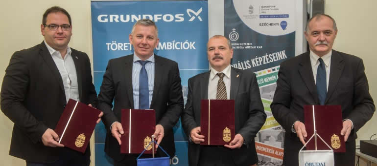 Cooperation Becomes Stronger Between Grundfos and AMK Óbuda University