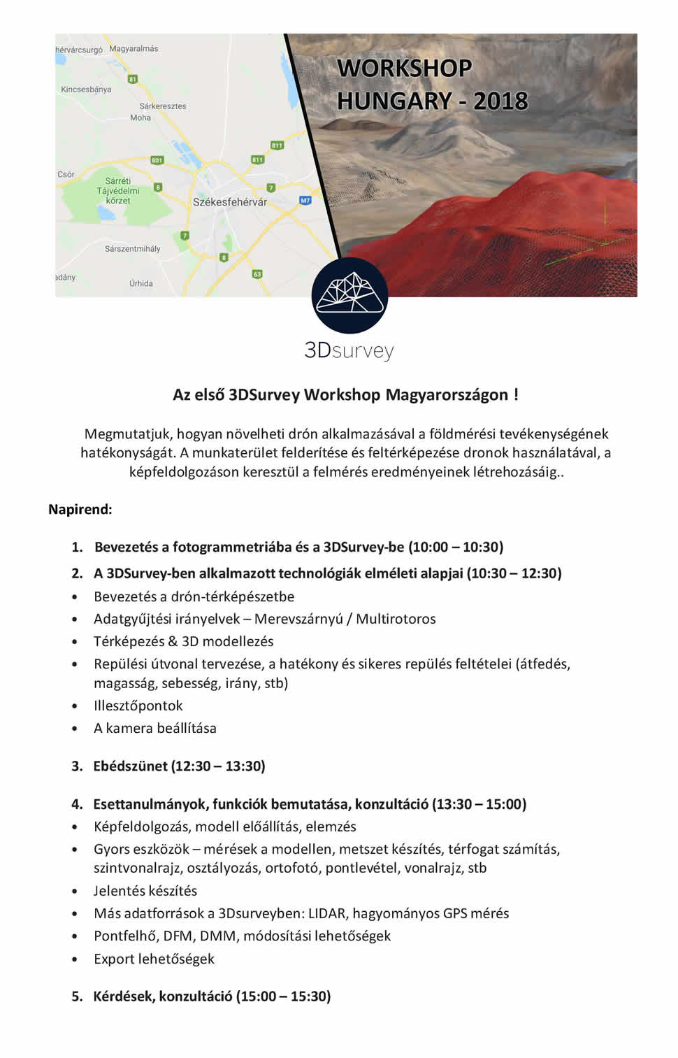 3DSurvey Workshop PROGRAM