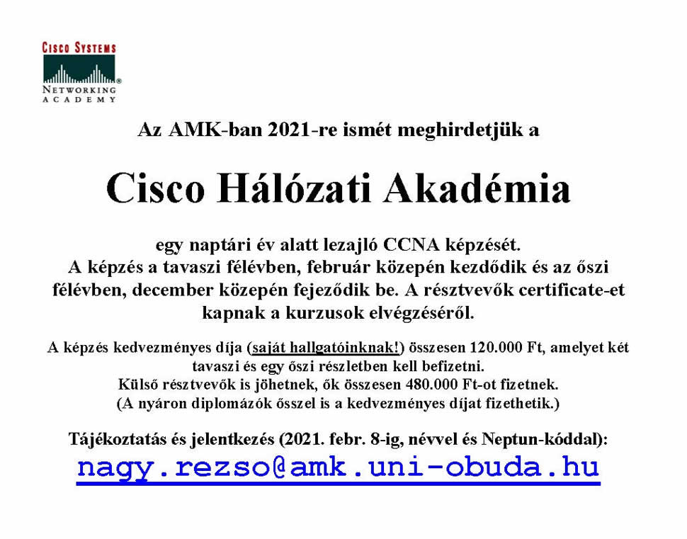 Cisco plakat 2021